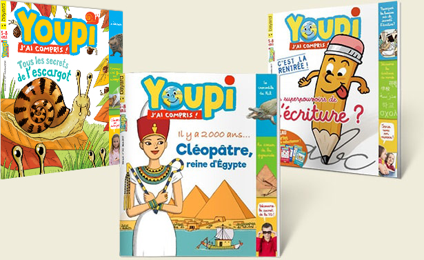 Les couvertures des derniers magazines Youpi