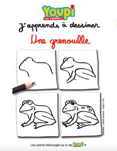 J'apprends à dessiner une grenouille