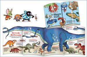 Un grand dépliant pour découvrir les records des dinosaures