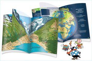Des pages transparentes pour voir comment le réchauffement climatique va modifier la Terre…