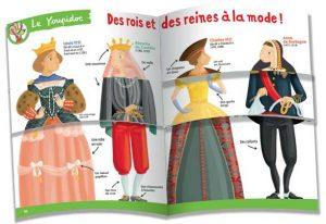 Un dépliant pour jouer avec les costumes des reines et des rois.