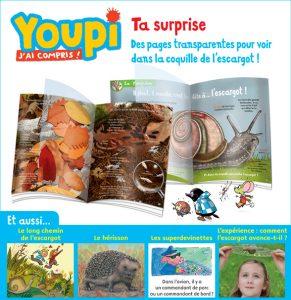 Des pages transparentes pour voir dans la coquille de l'escargot, Youpi, octobre 2016