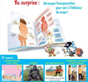 Ta surprise : des pages transparentes pour voir à l'intérieur de ton corps