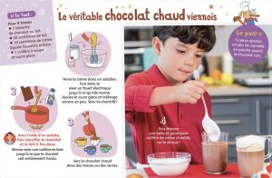 """5 recettes chocolatées"", Youpi, n° 351, décembre 2017. Conception et textes : Pablo Thiollier-Serrano. Photos : Philippe Ughetto. Illustrations : Marion Piffaretti."