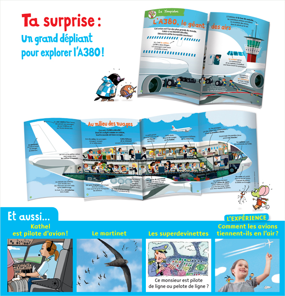 Surprise : un grand dépliant pour explorer l'A380