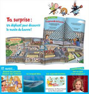 Un dépliant pour découvrir le musée du Louvre !
