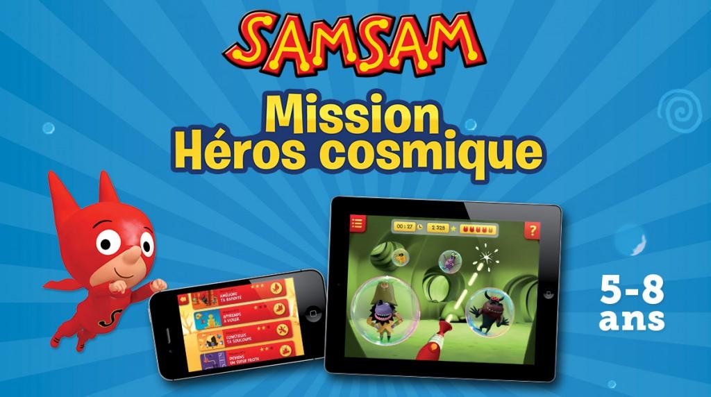 Appli – SamSam mission héros cosmique