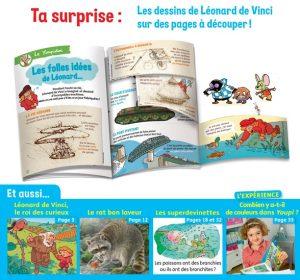 Youpi, avril 2019 - Youpidoc, les dessins de Léonard de Vinci sur des pages à découper !