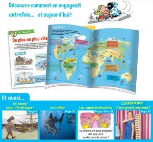 Youpi, juin 2019 - Youpidoc, 8 pages pour faire le tour de la Terre et découvrir comment on voyageait hier et aujourd'hui.