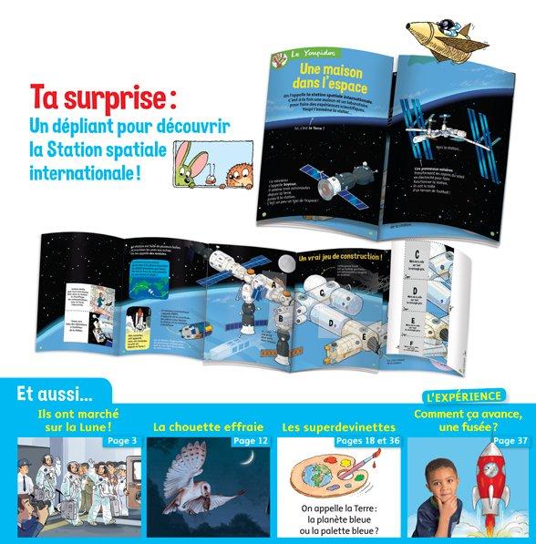Youpi, juillet 2019 - Youpidoc, un dépliant pour découvrir la Station spatiale internationale