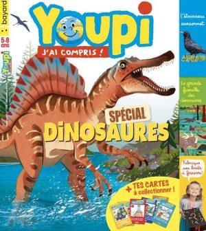 Couverture du magazine Youpi, j'ai compris ! n°374, novembre 2019 - Spécial dinosaures