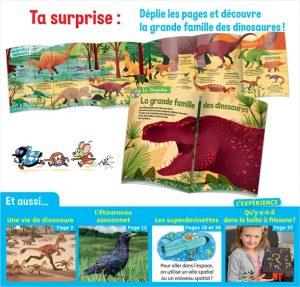 Au sommaire du magazine Youpi, j'ai compris ! n°374, novembre 2019 - Spécial dinosaures