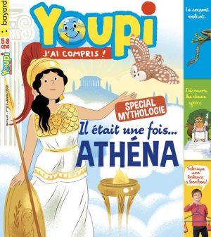 Couverture du magazine Youpi, j'ai compris ! n°377, février 2020 - Spécial mythologie - Il était une fois Athéna