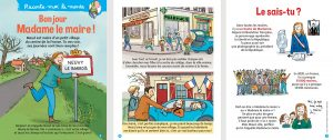 """""""Bonjour Madame le maire !"""", Youpi n°378, mars 2020. Texte : Nathalie Tordjman. Illustration : Zelda Zonk."""