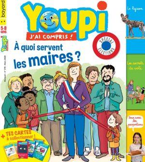 Couverture du magazine Youpi, j'ai compris ! n°378, mars 2020 - Spécial élections – À quoi servent les maires ?