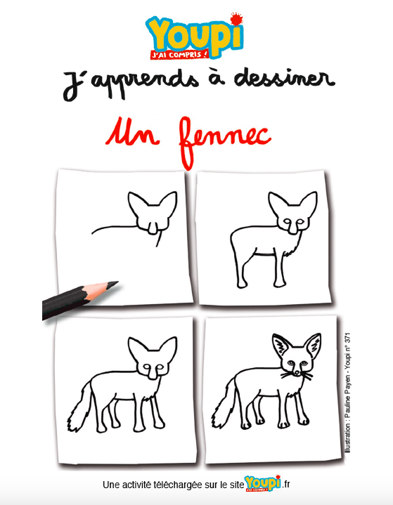 J'apprends à dessiner un fennec
