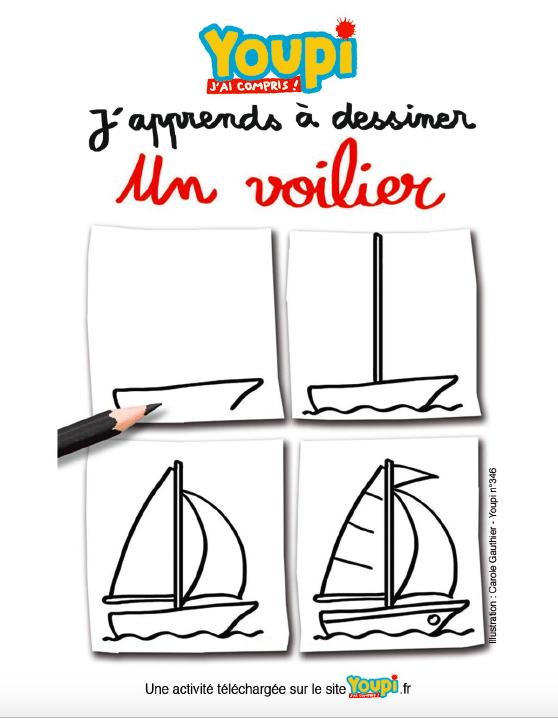 J'apprends à dessiner un voilier