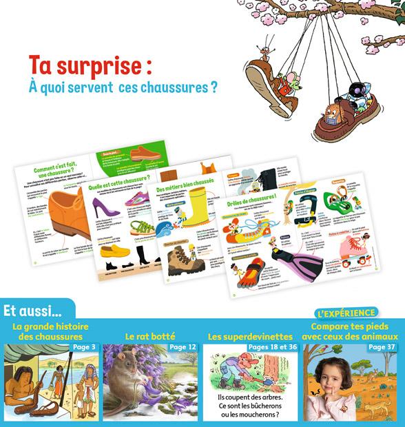 Sommaire Youpi, j'ai compris ! n°391, avril 2021 - La grande histoire des chaussures !